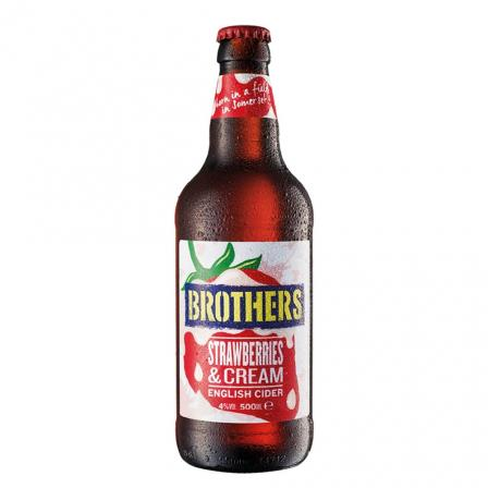 12 X Brothers Strawberries & Cream Cider 50cl
