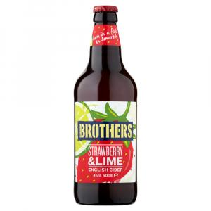 12 X Brothers Strawberry & Lime Cider 50cl
