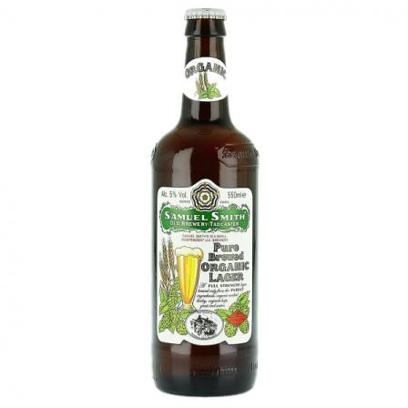 12 X Samuel Smiths Pure Brewed Organic Lager 55cl