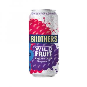 24 X Brothers Wild Fruit Cider Cans 440ml