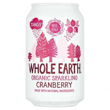24 X Whole Earth Organic Sparkling Cranberry Drink 330ml