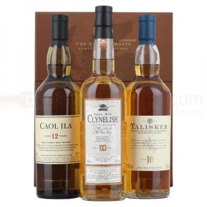 3 X Classic Malts Coastal Collection Of Whiskies 20cl Gift Tasting