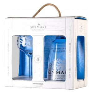 Gin Mare 70cl Glass Glass Gift Set