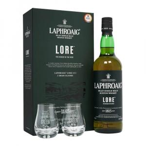 Laphroaig Lore Whisky 70cl Gift
