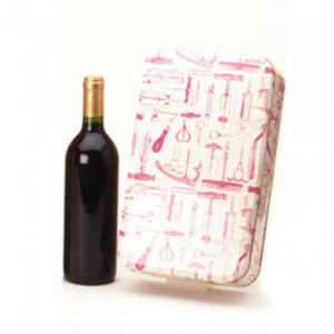 Metal Box for 2 Bottles with Metal Cap (Wine Not Included)