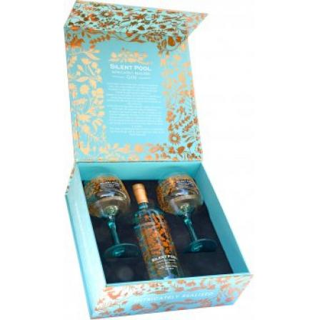 Silent Pool Gin and 2 Glass Gift Set