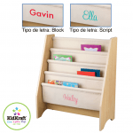 TAGS:Wood and Fabric Bookcase in Natural Color Custom Kidkraft
