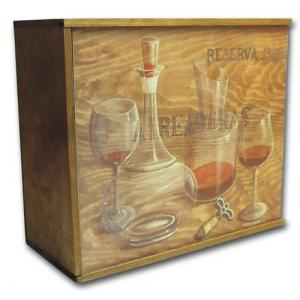 Wood Box for 6 Bottles (Wine Not Included)